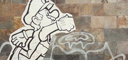 Alegoría de la vida sobre muro de mampostería