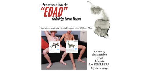 Rodrigo García Marina presenta 'Edad' en la Libreria La Semillera